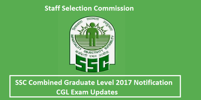 SSC CGL 2017 Notification
