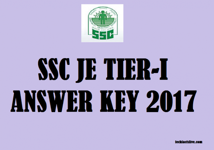 SSC JE Tier-I Answer key 2017