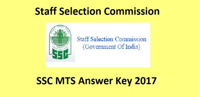 SSC Multi Tasking Staff Answer Key 2017