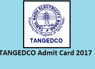 TANGEDCO Admit card 2017