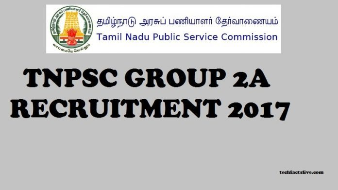 TNPSC Group 2A Recruitment 2017