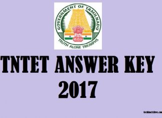 TNTET Answer key 2017