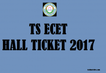 TS ECET Hall Ticket 2017