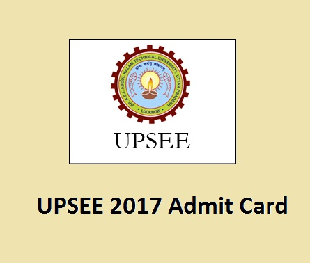 UPSEE 2017 Admit Card