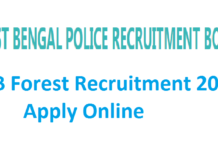 West Bengal Forest Department Recruitment 2017