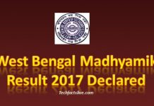 WB Board 10th Results 2017