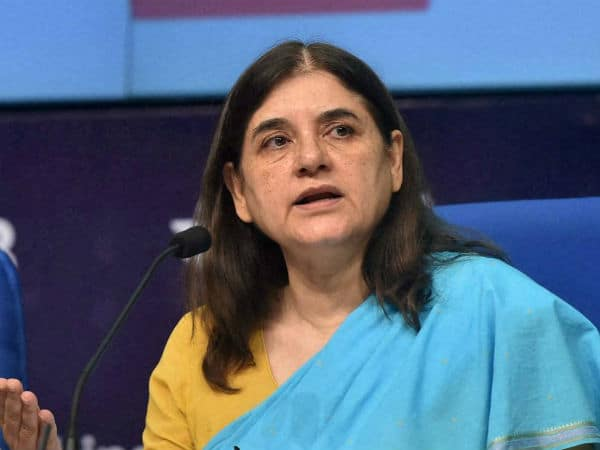 maneka gandhi on father's name
