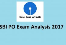 SBI PO exam analysis 2017