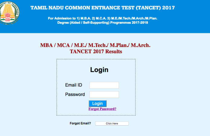 tancet results link activated