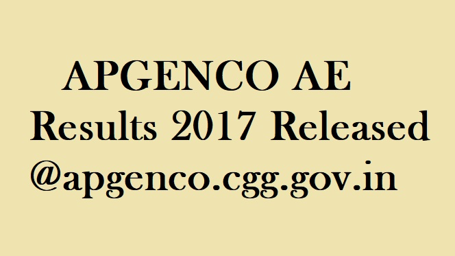 APGENCO Results