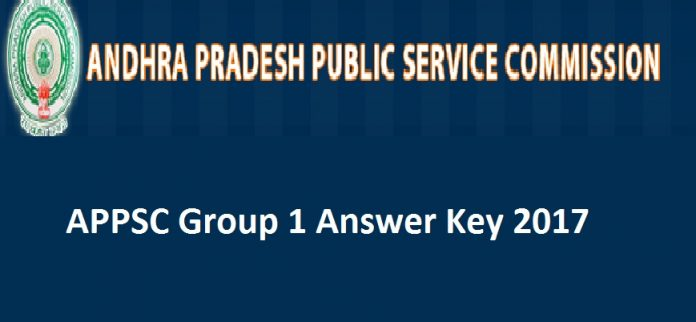 APPSC Group 1 Screening Test Answer Key 2017