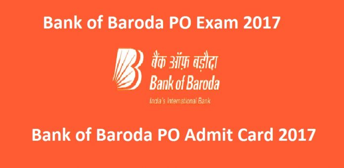 Bank of Baroda PO Admit Card 2017