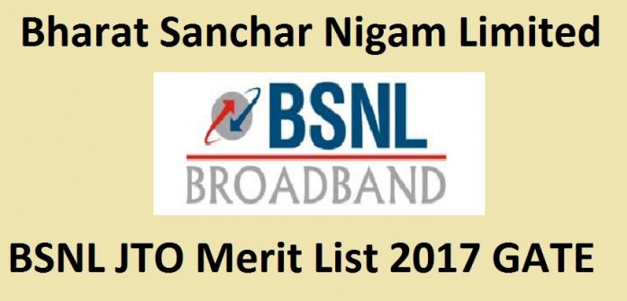 BSNL JTO Merit List