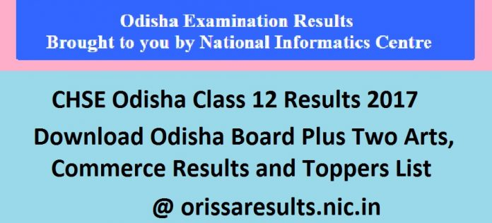 CHSE Odisha Class 12 Results 2017