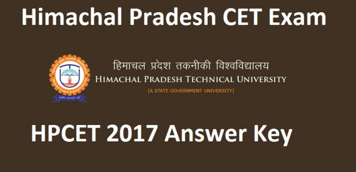 HPCET Answer Key 2017