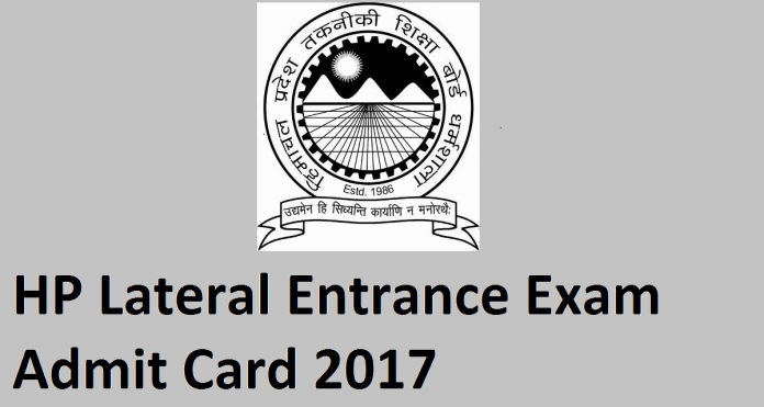 HP Lateral Entrance Exam Admit Card 2017