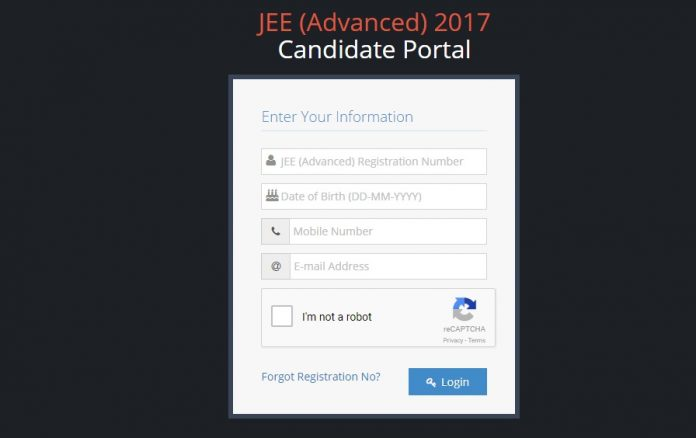 JEE Advanced ORS Sheet 2017
