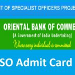 OBC admit card