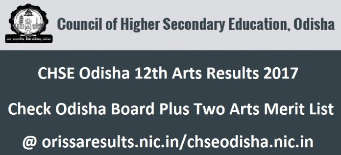 CHSE Odisha 12th Arts Results 2017