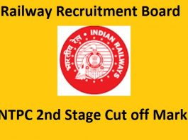 RRB NTPC 2nd Stage Cut off Marks