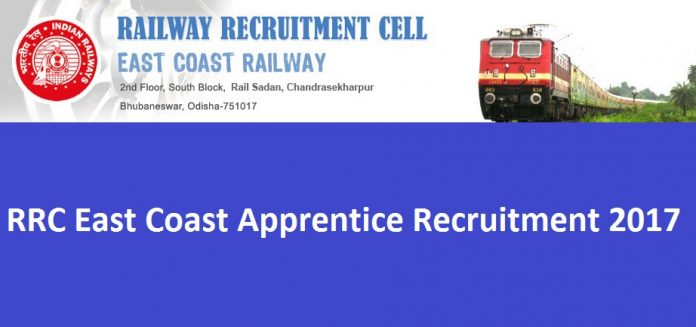 RRC Bhubaneswar Recruitment 2017