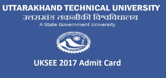 UKSEE 2017 Admit Card