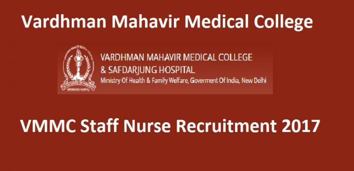 VMMC Staff Nurse Recruitment 2017