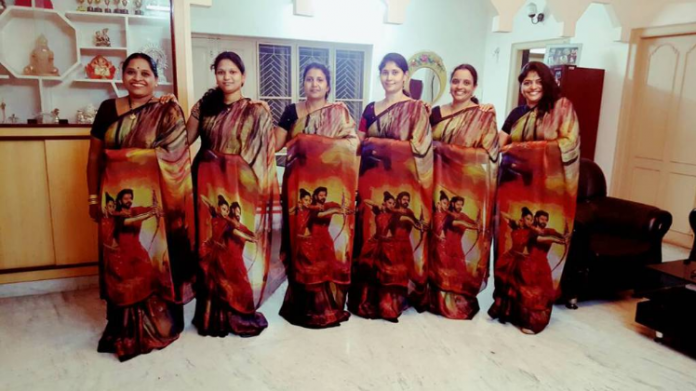 Printed Sarees with Baahubali Posters