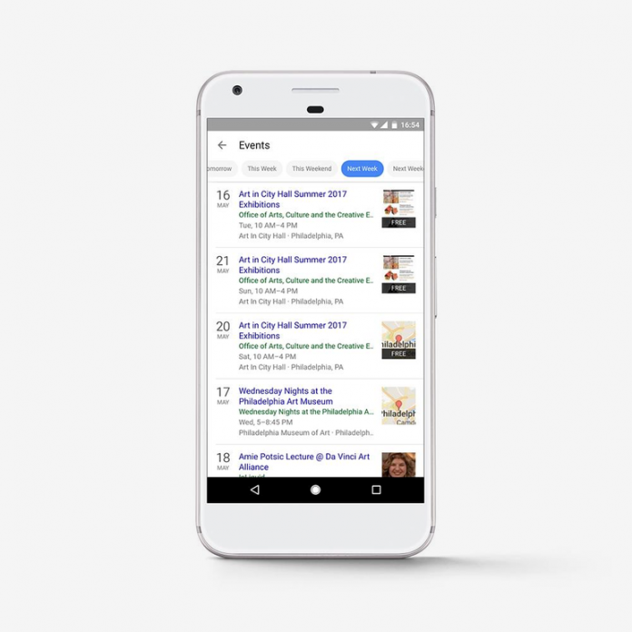 Google Search Launches Event Finder to Find nearby Local Events