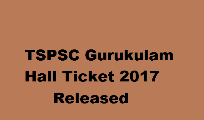TSPSC Gurukulam Hall Ticket