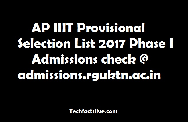 AP IIIT Provisional Selection