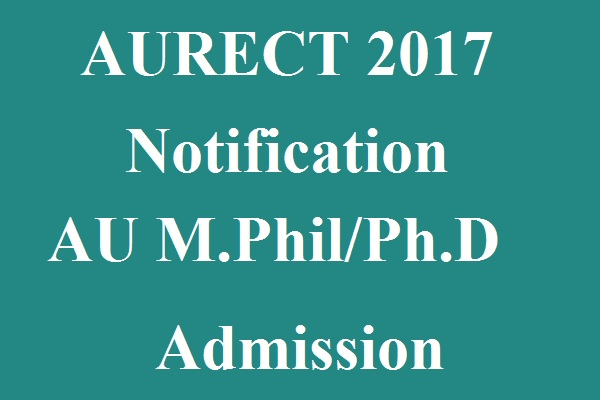 AURCET 2017 Notification
