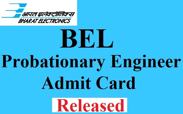 BEL PE Admit Card 2017