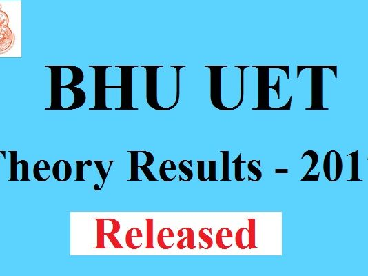 BHU UET Theory Results 2017