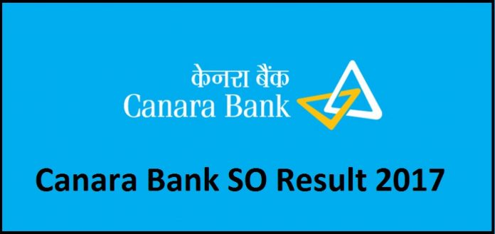 Canara Bank SO Results 2017