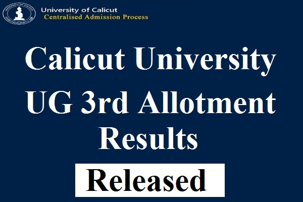 Calicut University Degree Third