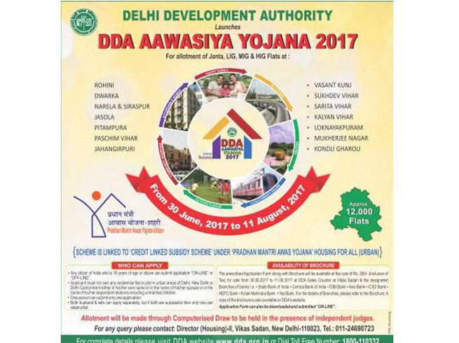 Awasiya Yojana: 12K DDA flats on offer