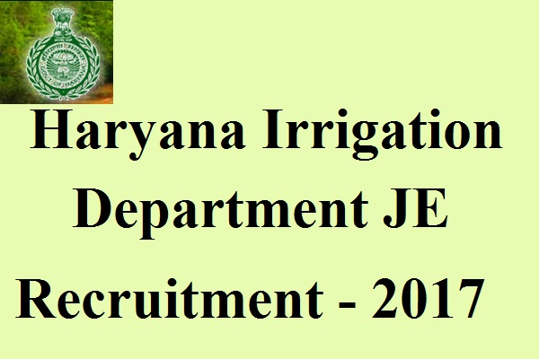 Haryana Irrigation Department JE Recruitment