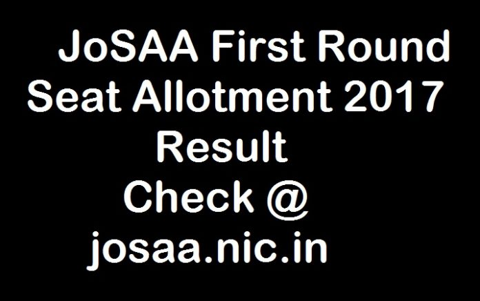 JoSAA Seat Allotment Result