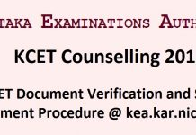 KCET Counselling 2017