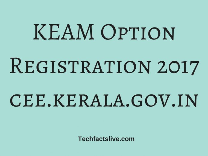 KEAM Option Registration 2017