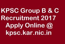 KPSC Recruitment 2017