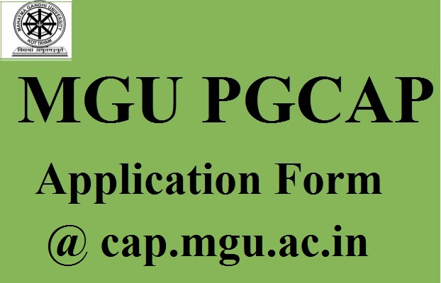 MGU PGCAP Application Form