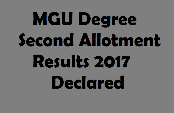 Degree Second Allotment Results