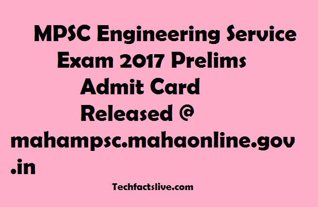 MPSC ESE Admit Card