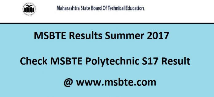 MSBTE Results Summer 2017
