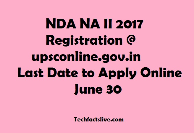 UPSC NDA NA II Online Application