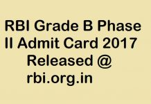 RBI Grade B Phase 2 Admit Card