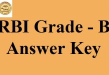 RBI Grade B Answer Key 2017