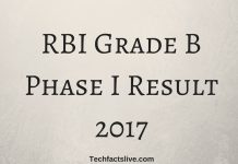 RBI Grade B Phase I Result 2017